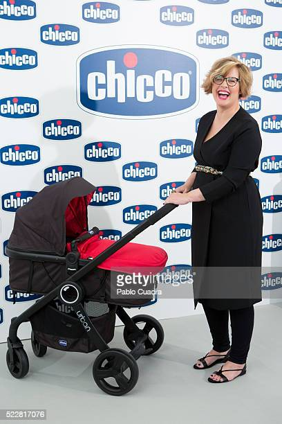 Tania Llasera presents 'Chicco' products on April 21 2016 in Madrid Spain
