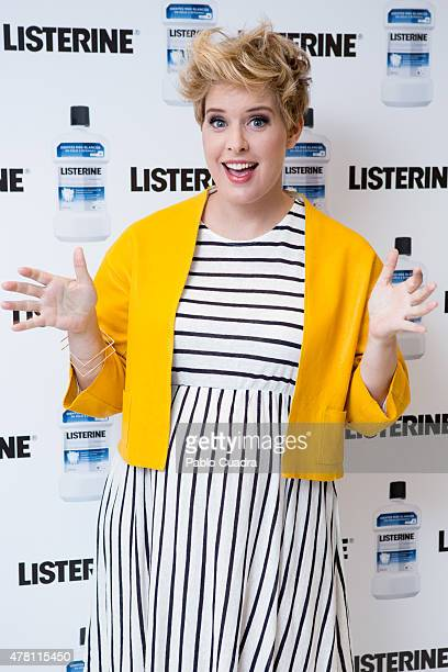Tania Llasera presents the New Listerine product at the NH Eurobuilding Hotel on June 22 2015 in Madrid Spain