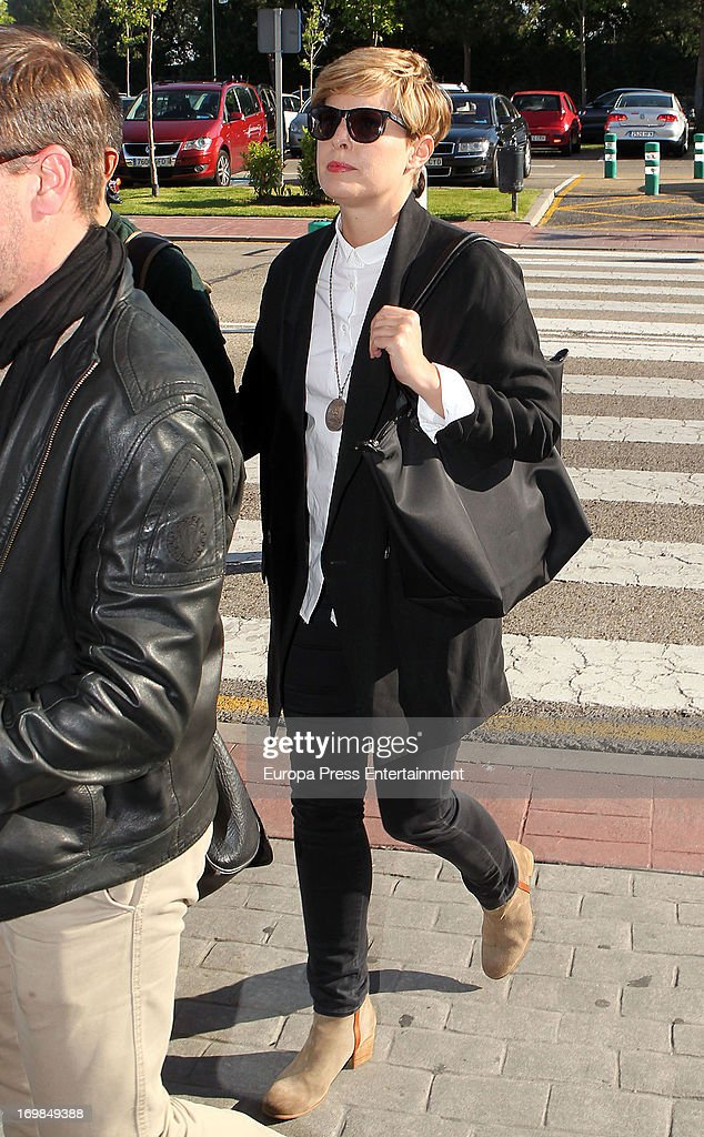 Tania Llaseras visits the chapel of rest for Mario Biondo at Tanatorio Parcesa on May 31, 2013 in Madrid, Spain. Spanish television presenter Raquel Sanchez Silva found her 36 year-old-husband, Italian cameraman Mario Biondo, dead at their home after returning from work on May 30.