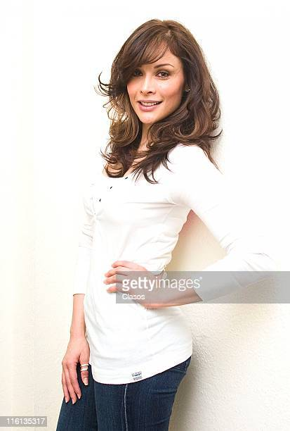 Tania Vazquez during the beginning of the recordings of soap opera Esperanza del Corazon at Televisa San Angel on June 14 2011 in Mexico City Mexico