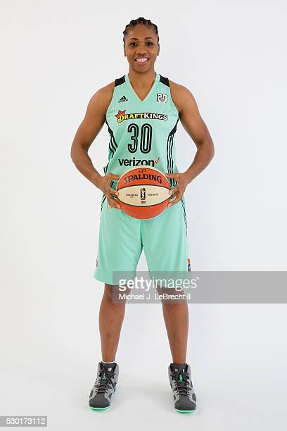 Tanisha Wright of the New York Liberty poses for a portrait during media day on May 09 2016 at Madison Square Garden Training Center in Tarrytown New...