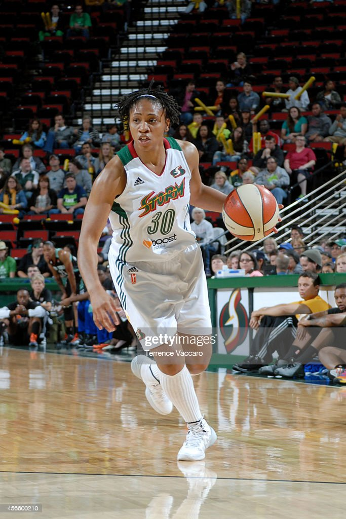 <a gi-track='captionPersonalityLinkClicked' href=/galleries/search?phrase=Tanisha+Wright&family=editorial&specificpeople=541423 ng-click='$event.stopPropagation()'>Tanisha Wright</a> #30 of the Seattle Storm drives against the New York Liberty on July 24,2014 at Key Arena in Seattle, Washington.
