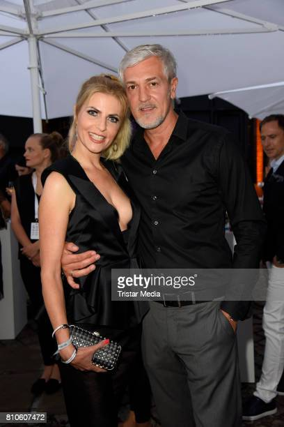 Tanja Buelter and her husband Ehemann Nenad Drobnjak attend the MICHALSKY StyleNite during the MercedesBenz Fashion Week Berlin Spring/Summer 2018 at...