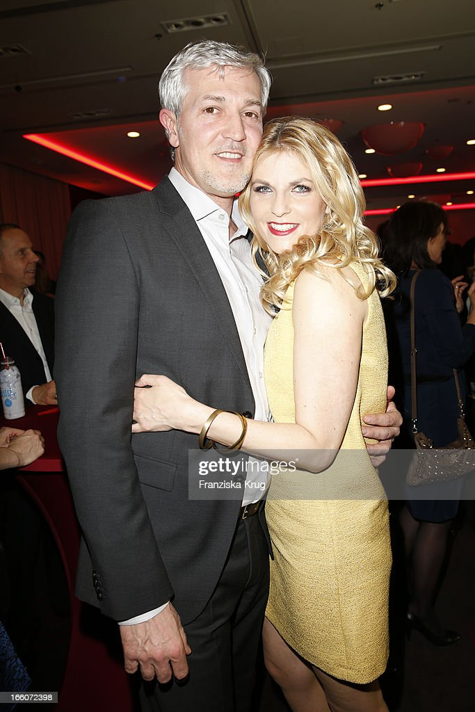 Tanja Buelter and Nenad Drobniak attend the Victress Day Gala 2013 at the MOA Hotel on April 8, 2013 in Berlin, Germany.