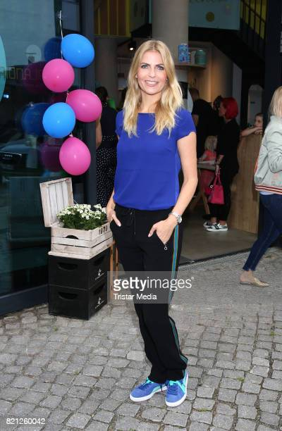 Tanja Buelter attends the 2nd birthday of Playbrush with the nwe toothbrush launch on July 23 2017 in Hamburg Germany