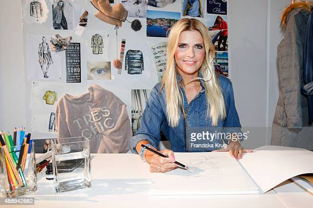 Tanja Buelter attends the 'La Boum Fashion Studio' by Soccx on September 18 2015 in Hoppegarten/ Berlin Germany