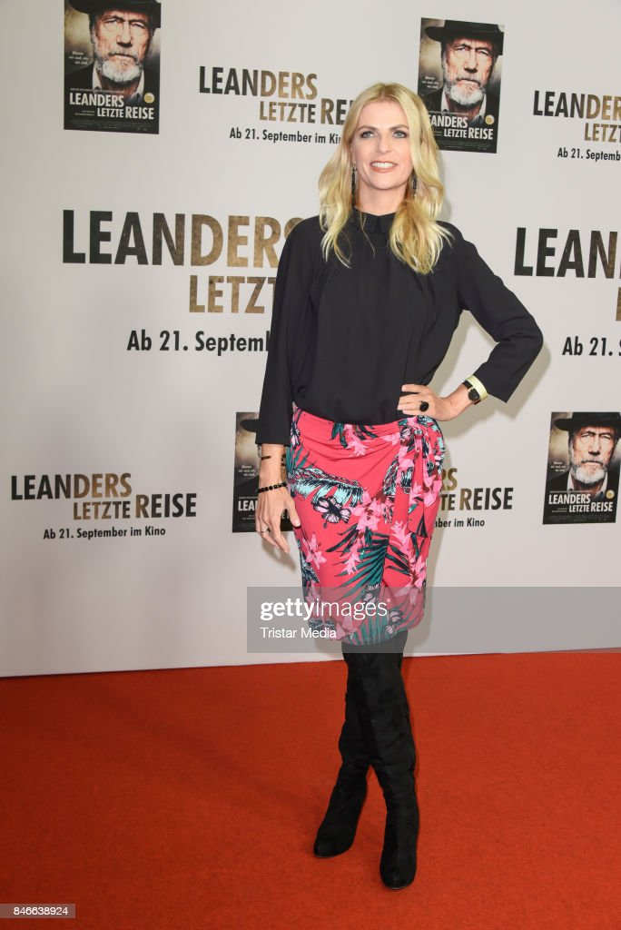 Tanja Buelter attends the 'Leanders Letzte Reise' Premiere at Kino in der Kulturbrauerei on September 13, 2017 in Berlin, Germany.