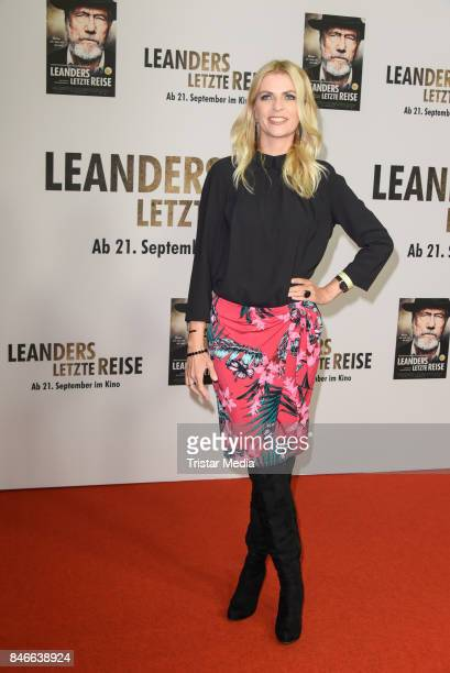 Tanja Buelter attends the 'Leanders Letzte Reise' Premiere at Kino in der Kulturbrauerei on September 13 2017 in Berlin Germany