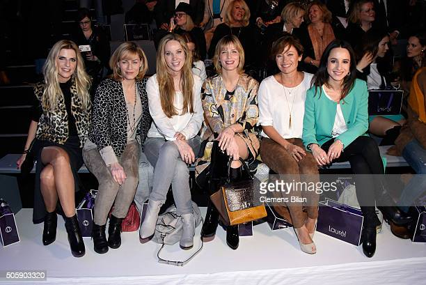 Tanja Buelter Gesine Cukrowski AnnKathrin Kramer Valerie Niehaus Carolina Vera and Stephanie Stumph attend the Laurel show during the MercedesBenz...