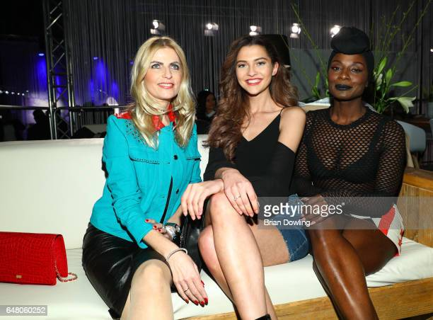 Tanja Buetler Fata Hasanovic and Nikeata Thompson at the 5th Spirit of Istanbul festival at Arena Berlin on March 4 2017 in Berlin Germany