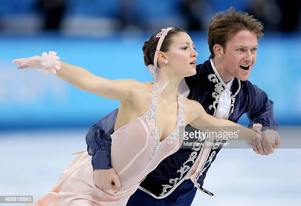 Tanja Kolbe and Stefano Caruso of Germany compete in the Figure Skating Ice Dance Free Dance on Day 10 of the Sochi 2014 Winter Olympics at Iceberg...