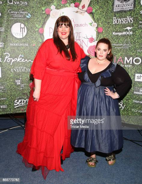 Tanja Marfo and US Influencer and plus size model Tess Holliday during the Plus Size Fashion Show at Cruise Center Hafencity on September 29 2017 in...