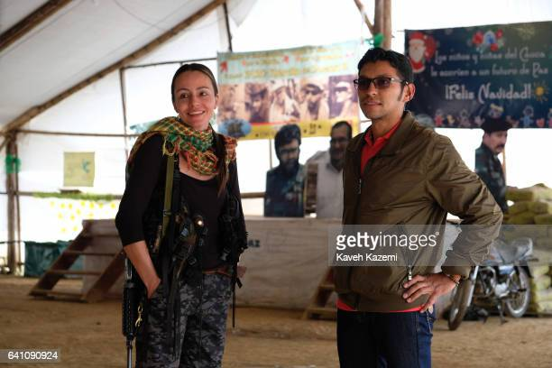 Tanja Nijmeijer a Dutch national with nom de guerre of Alexandra Nariño who joined FARC in 2002 dressed in military fatigue and her automatic assault...