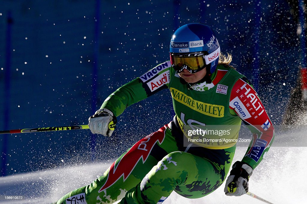 Tanja Poutiainen of Finland competes during the Audi FIS Alpine Ski World Cup Women's Giant Slalom on November 24 2012 in Aspen Colorado
