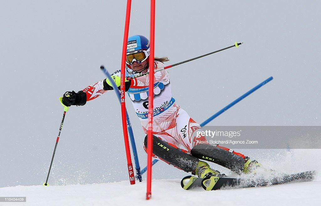 Tanja Poutiainen of Finland during the Audi FIS Alpine Ski World Cup Women's Slalom on March 18 2011 in Lenzerheide Switzerland