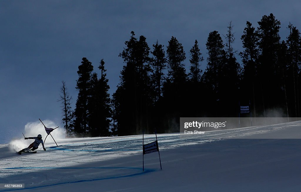 Tanja Poutiainen of Finland in action during the second run of the FIS Beaver Creek Ladies' Giant Slalom World Cup Race on December 1 2013 in Beaver...
