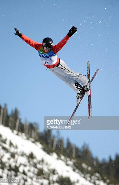 Tanja Schaerer of Switzerland competes in the Women's Freestyle Skiing Aerials qualification at Cypress Mountain during the Vancouver Winter Olympics...