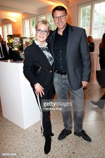 Tanja Schumann and her husband Stefan Burmeister attend the Deichmann Shoe Step of the year award at Curio Haus on May 16 2017 in Hamburg Germany