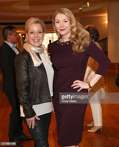 Tanja Schumann and Sandra Quadflieg attend the Ladies Lunch 'Spring at the Park' on March 29 2016 in Hamburg Germany