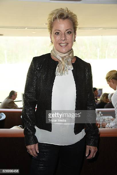 Tanja Schumann attends the 'BILD Renntag' At Trabrennbahn Gelsenkirchen on Mai 01 2016 in Gelsenjirchen Germany