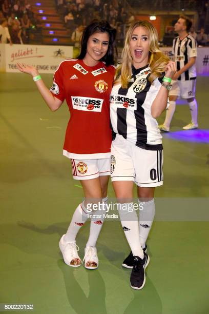 Tanja Tischewitsch and Angelina Heger attend the KISS CUP 2017 at Max Schmeling Halle on June 23 2017 in Berlin Germany