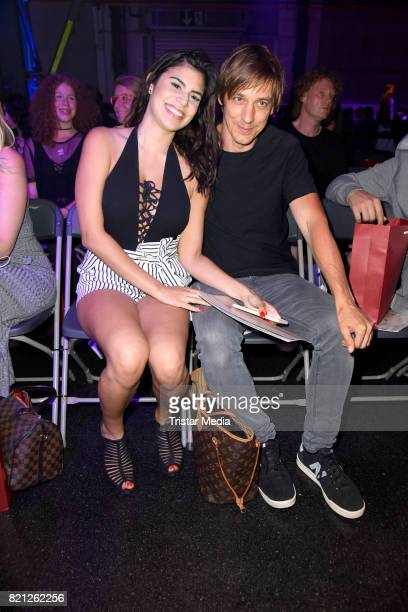 Tanja Tischewitsch and her boyfriend Thomas Radeck attend the PF Selected show during Platform Fashion July 2017 at Areal Boehler on July 23 2017 in...
