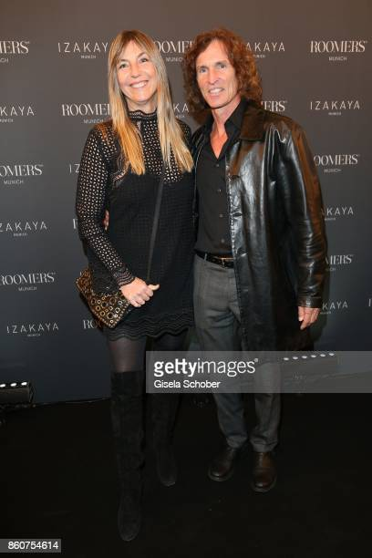 Tanja ValerienGlowacz daughter of Harry Valerien and her husband Stefan Glowacz during the grand opening of Roomers IZAKAYA on October 12 2017 in...