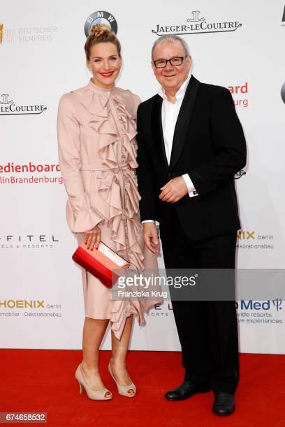 Tanja Wedhorn and Joachim Krol during the Lola German Film Award red carpet arrivals at Messe Berlin on April 28 2017 in Berlin Germany