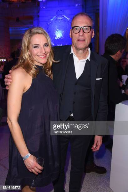 Tanja Wedhorn and Thomas Jauch attend the Blue Hour Reception hosted by ARD during the 67th Berlinale International Film Festival Berlin on February...