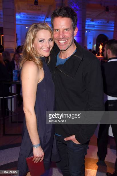 Tanja Wedhorn and Tim Bergmann attend the Blue Hour Reception hosted by ARD during the 67th Berlinale International Film Festival Berlin on February...