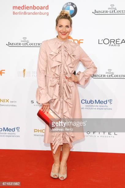 Tanja Wedhorn attends the Lola German Film Award red carpet at Messe Berlin on April 28 2017 in Berlin Germany