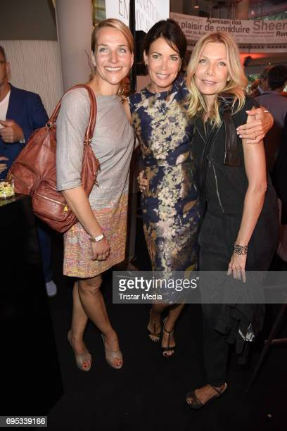 Tanja Wedhorn Gerit Kling and Ursula Karven attend the Cocktail prolonge to the SemiFinal Round Of Judging Of The International Emmy Awards 2017 on...