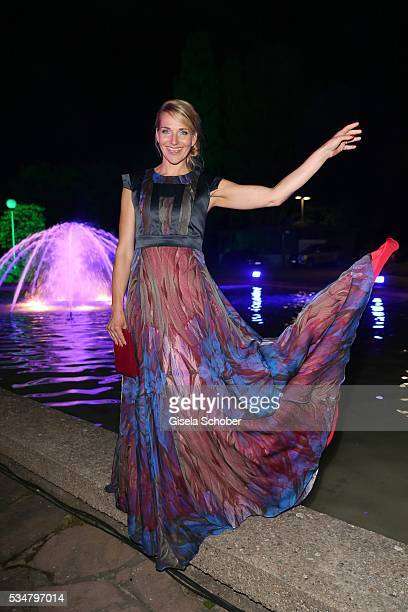 Tanja Wedhorn wearing a dress by Marcel Ostertag during the Lola German Film Award 2016 after show party at Palais am Funkturm on May 27 2016 in...