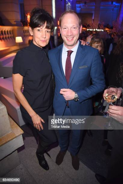 Tanja Ziegler and Johann von Buelow attend the Blue Hour Reception hosted by ARD during the 67th Berlinale International Film Festival Berlin on...