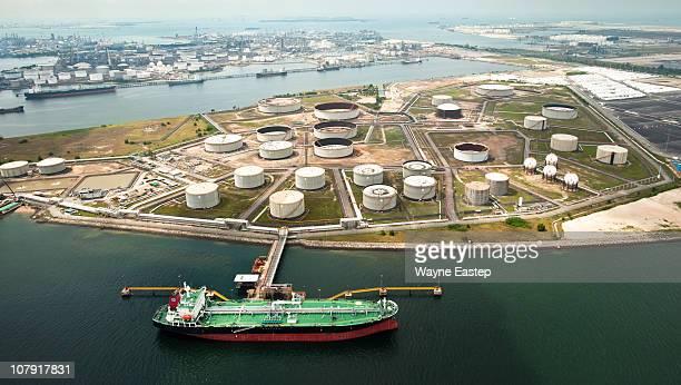 Tank farm at Petrochemical Refinery, Singapore