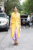 Tank Magazine Fashion Director Caroline Issa on Day 6 of New York Fashion Week Spring/Summer 2015 on September 9 2014 in New York City