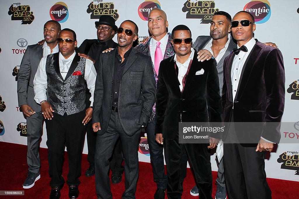 Tank, New Editon, Paxton Baker and Ginuwine arrives at the Soul Train Awards 2012 - Arrivals at Planet Hollywood Casino Resort at on November 8, 2012 in Las Vegas, Nevada.