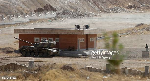 A tank of Iranian Army is deployed near IraqIran border gate which is closed for one day due to the military drill organised by Iraqi Kurdish...