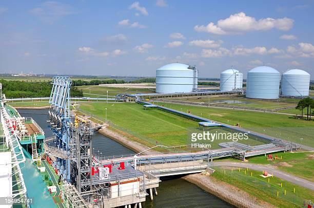 LNG tanker approaching terminal