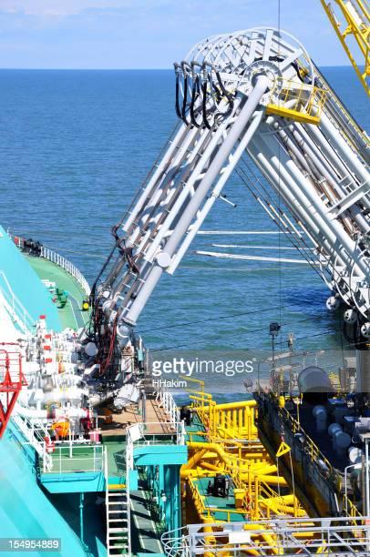 LNG tanker discharging cargo