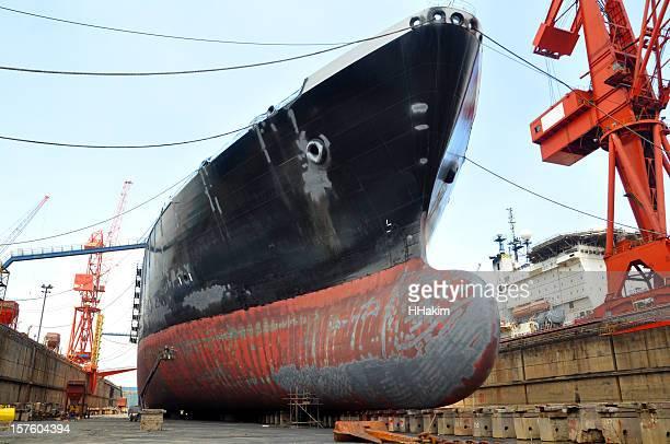LNG tanker in a dry dock