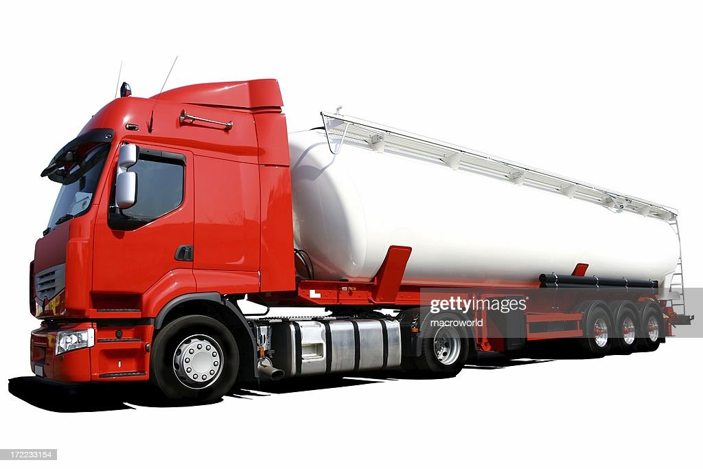 tanker truck (isolated)
