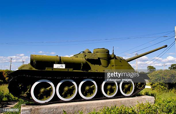 Tanks At Museum Of Playa Giron Dedicated To The War With America In The Bay Of Pigs Cuba