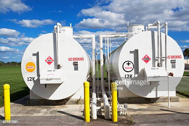 Tanks at oil refinery