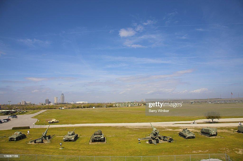 Tanks at USS Alabama Battleship Memorial Park, Mobile, Alabama : Stock Photo