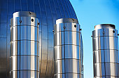Tanks at water treatment plant