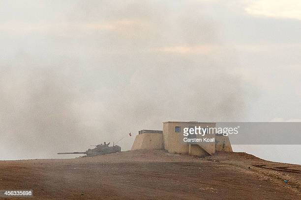 Tanks from the Turkish Armed Forces are dispatched to the Turkish Syrian border as clashes intensified with Islamic State of Iraq and Levant...