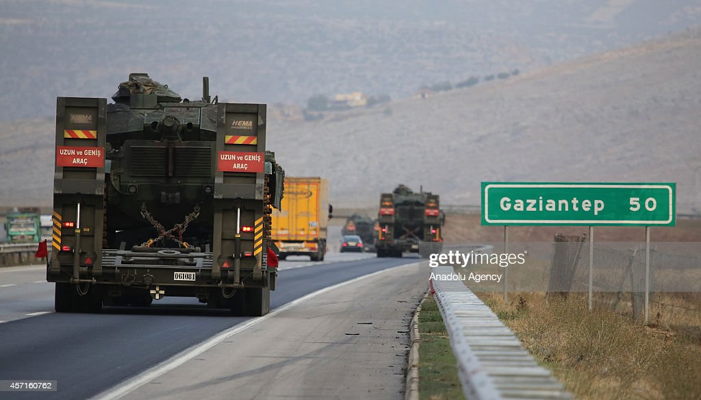 15 tanks which are sent to TurkishSyrian border passes Gaziantep southeastern province of Turkey and moves to Sanliurfa southeastern city which has...