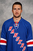 Tanner Glass of the New York Rangers poses for his official headshot for the 20142015 season on September 18 2014 in White Plains New York