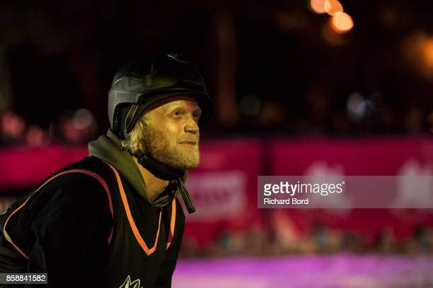 Tanner Hall of the USA is seen during the Sosh Big Air finals on October 7 2017 in Annecy France